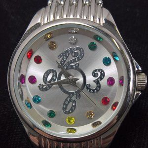 Ladies Watch with Rhinestone Accents